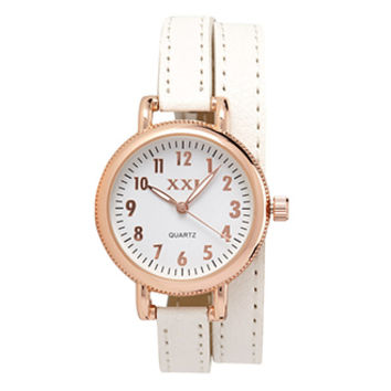 FOREVER 21 Classic Wrap Around Watch White/Rose One