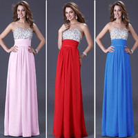 Evening Formal Prom Gown Party Cocktail Bridesmaid Chiffon Ball Long Maxi Dress