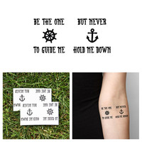 Anchor - Guide Me - Temporary Tattoo (Set of 2)