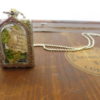 Your love is Infinate....Miniature Terrarium with Beautiful Love Note Enclosed, Love Note Locket