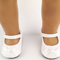 """free shipping factory price Environmental protection 18"""" INCH DOLL SHOES for AMERICAN GIRL black white ballet shoe b238"""