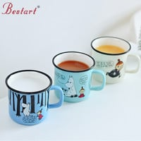 Cartoon Moomin Mug Cups Cute 250ml Ceramic Moomin Coffee Thermos Cup Tea Beer Cup With Handgrip Creative Christmas Gift