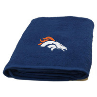 Denver Broncos NFL Applique Bath Towel