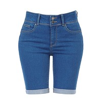 High Rise Denim Bermuda Shorts (CLEARANCE)