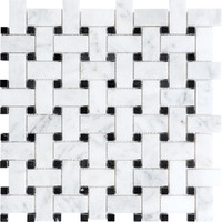Shop Anatolia Tile Venatino Polished Basketweave Mosaic Wall Tile (Common: 12-in x 12-in; Actual: 12-in x 12-in) at Lowes.com