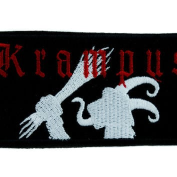 Evil Christmas Krampus Patch Iron on Applique Occult Clothing Cult Horror Movie