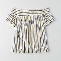 AEO Off-The-Shoulder Top, Natural White