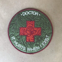 Hurts When I Exist Iron-On Patch
