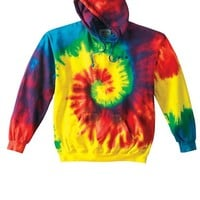 Multi Color Tie Dye Zip Up Hoodie For Men & Women #35 (Mens XX-Large)