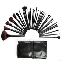 32-pcs Brown Wool Make-up Brush Set = 4831033796
