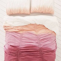 Dipped Gathered Duvet Cover   Urban Outfitters