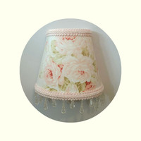 Shabby Chic Mary Rose fabric Night Light
