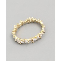 Marquise Prong Ring