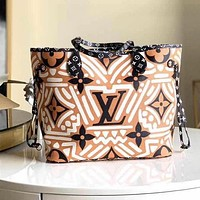 LV Louis Vuitton Fashion Women Shopping Bag Leather Tote Shoulder Bag Wallet Purse Two-Piece Set