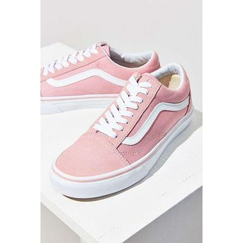 """""""Vans"""" With Warm Casual Shoes Men and women Pink cloth shoes Pink F"""