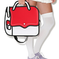 Dolls Kill Hip To Be Square Cartoon Bag Red/White One