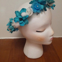 """The Snow Queen-Beautiful Handmade Flower Crown Inspired by Elsa from Disney's """"Frozen"""""""