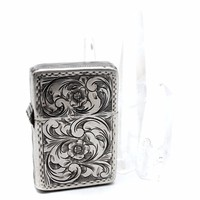 Vintage Floral Engraved Lighter Case