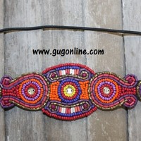 Multi Color Beaded Headband