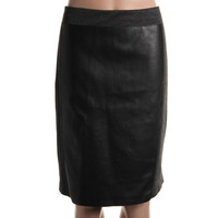 Bailey 44 Womens Faux Leather Knit Pencil Skirt
