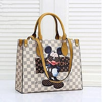 LV Louis Vuitton Monogram Canvas Tote Shoulder Bag