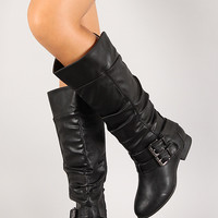 Coco-20 Buckle Knee High Riding Boot