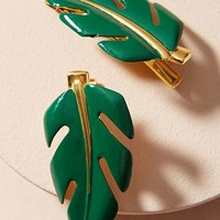 Lagatha Leaf Hair Clip Set