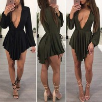 USA Women Summer Casual Bandage Bodycon Evening Party Cocktail Short Mini Dress