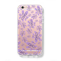 Purple Floral Patter iPhone 6 Case iPhone 6+ SE Case Galaxy S6 Edge Clear Hard Case C171