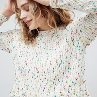 ASOS DESIGN chunky jumper in pom pom yarn at asos.com