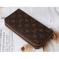 LOUIS VUITTON MEN'S WOMEN WALLET BAGS ZIPPER WALLETS