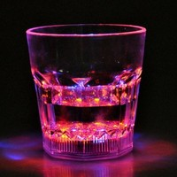 Water Activated Auto Color Changing LED Flash Light Whiskey Cup Glass:Amazon:Electronics