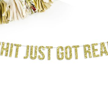 Shit Just Got Real Party Banner