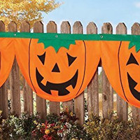 Three Pumpkin Fall Jack O Lantern Halloween Buntings