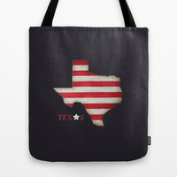 Texas State Tote Bag, washable tote bag, state pride, navy blue bag, striped bag, red and white, texas star, rustic state, state art