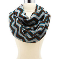 CHEVRON PRINTED INFINITY SCARF