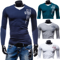 """""""Step Out of World"""" V-Neck Long Sleeve Shirt"""