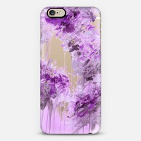 WHISPERED SONG 7 - Pastel Lilac Lavender Purple Abstract Flowers Feathers Painting Nature Wedding Bridal Bride Floral Bouquet Bridesmaid Winter Chic Transparent iPhone 6 case by Ebi Emporium   Casetify