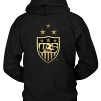 Us Soccer Team Logo Hoodie Two Sided