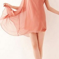 Shawl Beads Chiffon Long Blouse