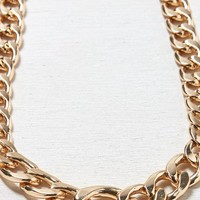 AEO Women's Chunky Chain Link Necklace (Gold)