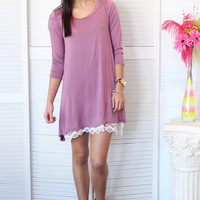 On My Mind Basic Tunic {Mauve}