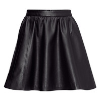 Imitation leather skirt - from H&M