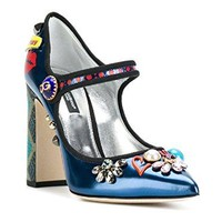 Dolce & Gabbana Women's Multi-Color Patent Leather Pumps - Heels Shoes - Size: 36 EU