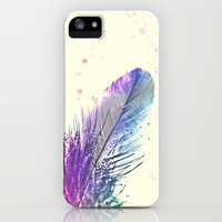 Feather  iPhone & iPod Case by Monika Strigel