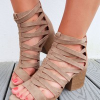 Fenced In Booties: Taupe