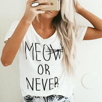 MEOW OR NEVER Graphic Top (more colors)- FINAL SALE