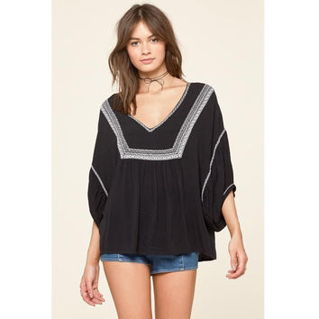Elliot Woven Top by Amuse Society