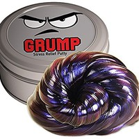 Grump Stress Relief Putty – Stress Relief Grumpy Gifts Funny Gag Gifts for Friends Kids Gifts Stocking Stuffers Secret Santa Gifts for Coworkers Weird White Elephant Ideas Purple Therapy Putty