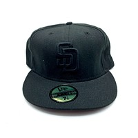 New Era 59FIFTY San Diego Padres All Black Fitted Hat